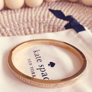 💜 Kate Spade Ring It Up Pavè Bracelet, Rose Gold